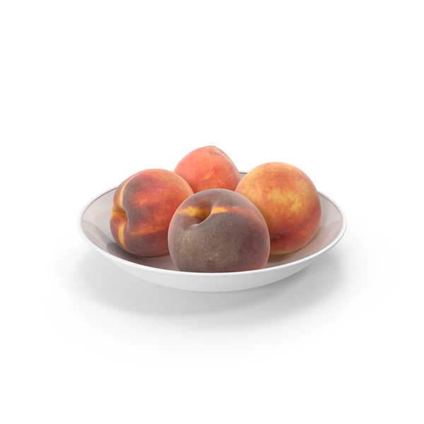 Peaches in plate PNG & PSD Images