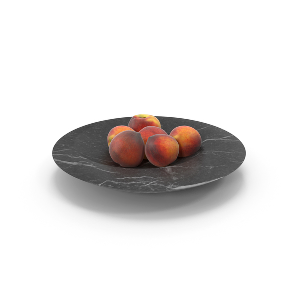 Peach: Peaches Slice Marble Bowl PNG & PSD Images