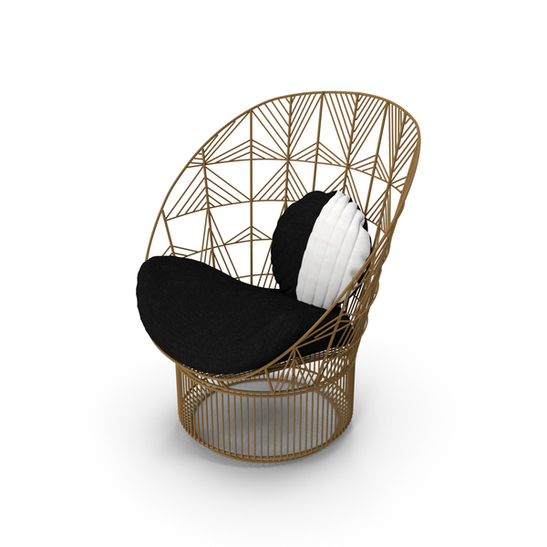 Outdoor: Peacock Lounge Chair PNG & PSD Images
