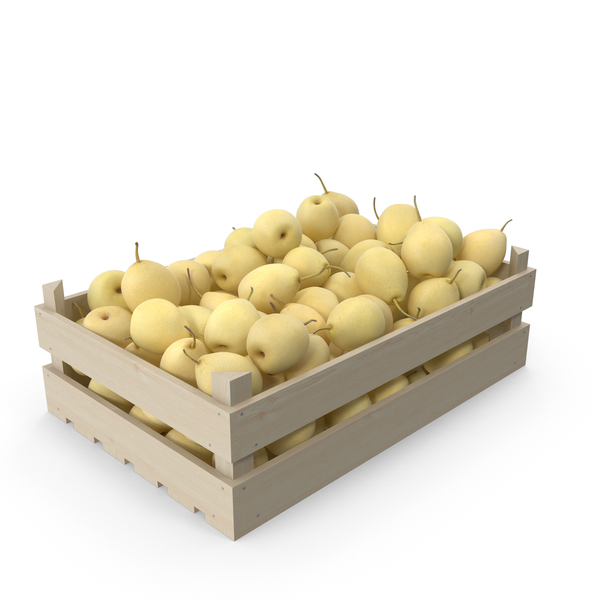 Pear Chinese Wooden Crate PNG & PSD Images