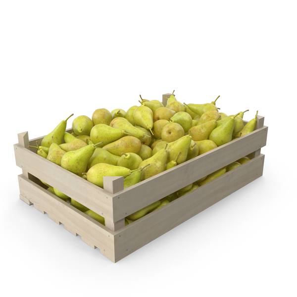 Pear Conference Wooden Crate PNG & PSD Images
