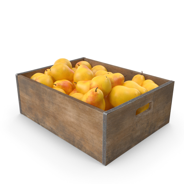 Pear Fruit Crate PNG & PSD Images