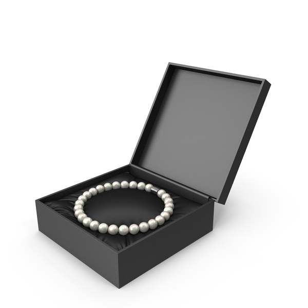 Pearls Bracelet in a Black Gift Box PNG & PSD Images