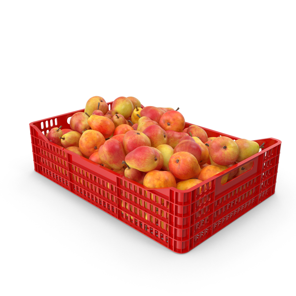 Pears Red Plastic Crate PNG & PSD Images