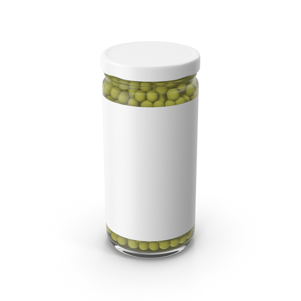 Peas Jar Green With Label PNG & PSD Images