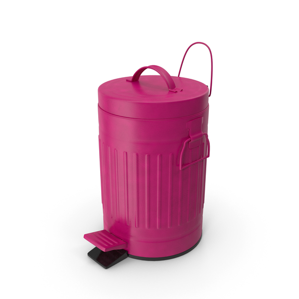 Pedal Trash Bin Purple PNG & PSD Images