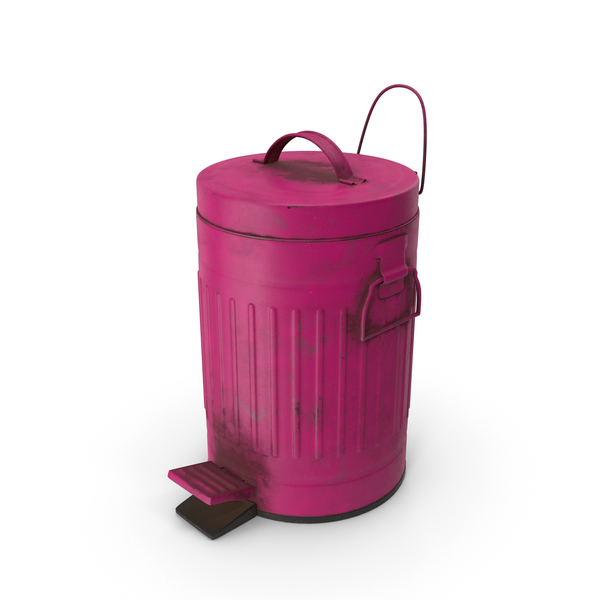Pedal Trash Bin Purple Dirty PNG & PSD Images