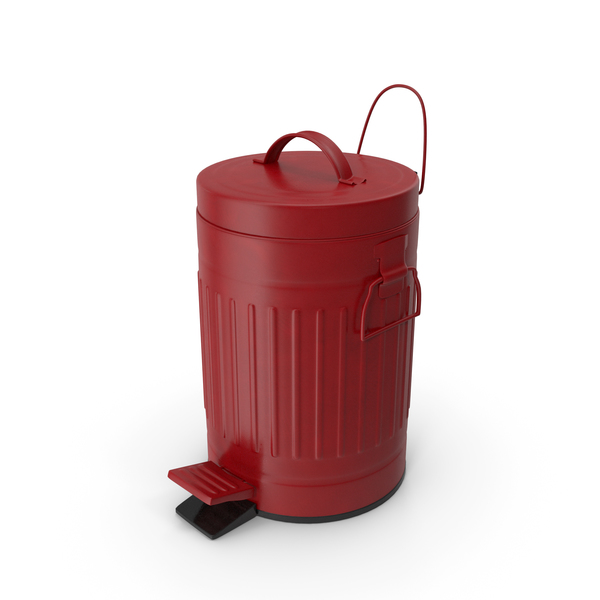 Pedal Trash Bin Red PNG & PSD Images