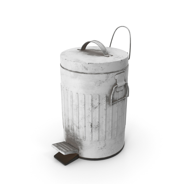 Pedal Trash Bin White Dirty PNG & PSD Images