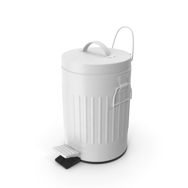 Pedal Trash Bin White PNG & PSD Images