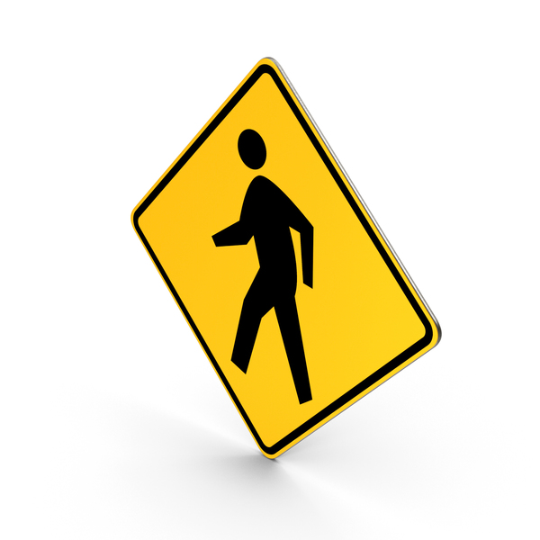 Pedestrian Crossing Road Sign PNG & PSD Images