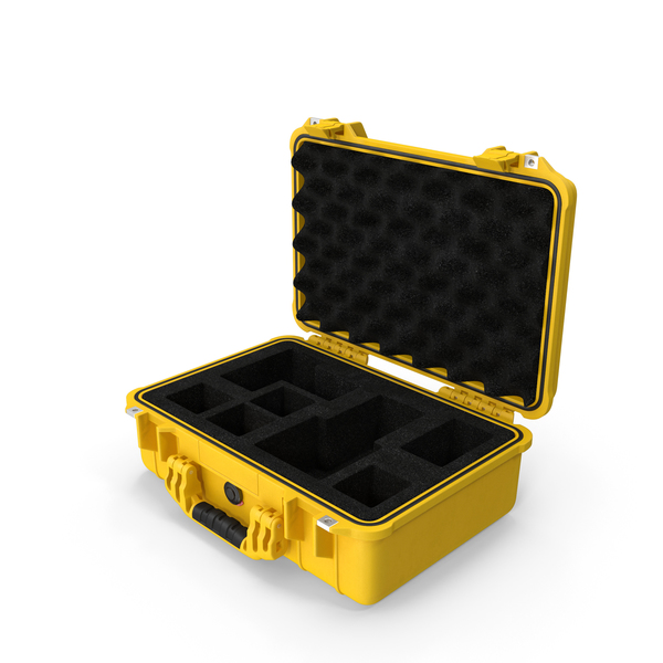 Pelican Case Photo Foam Yellow PNG & PSD Images