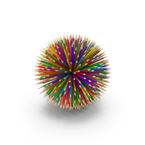 Colored: Pencil Ball PNG & PSD Images