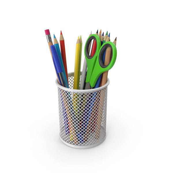 Pen Holder: Pencil Cup With Pencils PNG & PSD Images