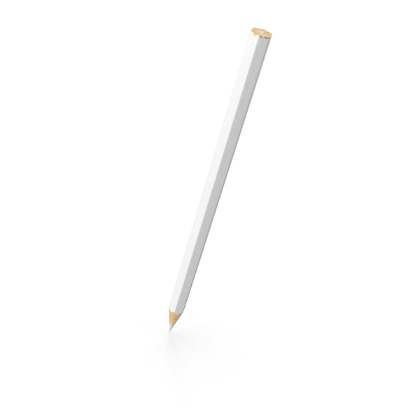 Pencil White PNG & PSD Images