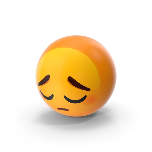 Pensive Emoji PNG & PSD Images