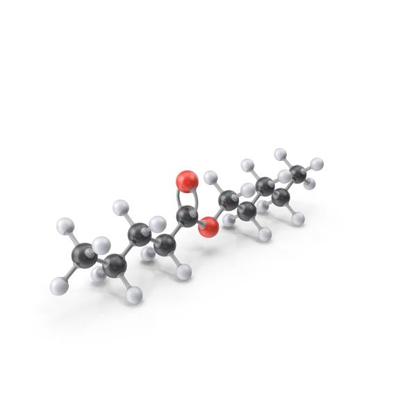 Pentyl Pentanoate Molecule PNG & PSD Images