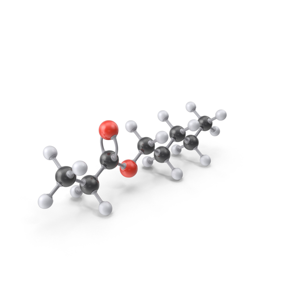 Pentyl Propanoate Molecule PNG & PSD Images
