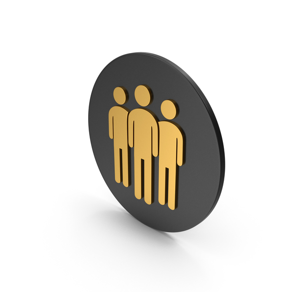 Silhouette: People Group Gold Icon PNG & PSD Images