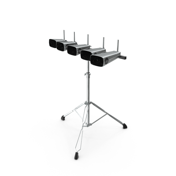 Percussion Five Cowbell Set with Stand PNG & PSD Images