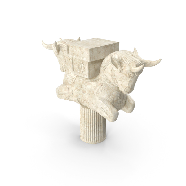 Persian Cow Statue PNG & PSD Images