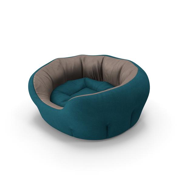 Pet Bed Blue PNG & PSD Images