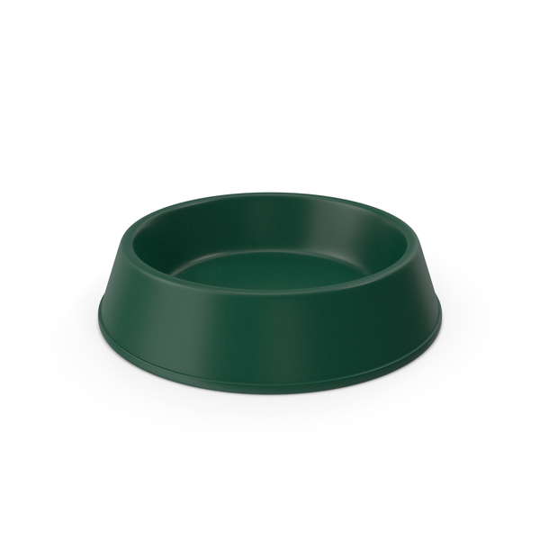 Pet Food Bowl Dark Green PNG & PSD Images