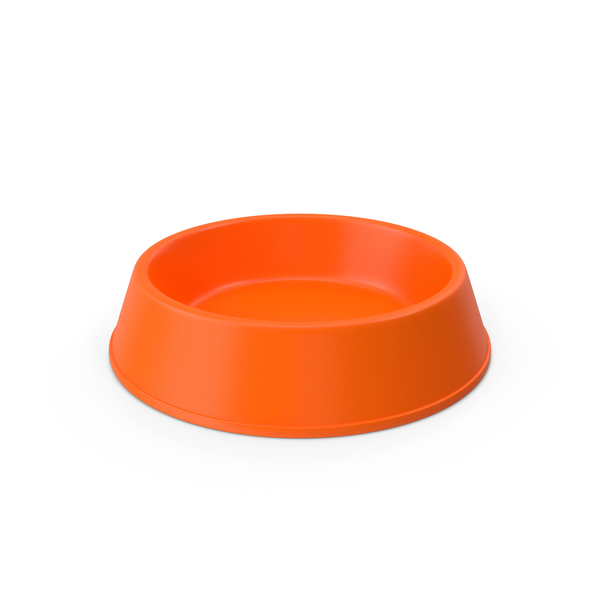 Pet Food Bowl Orange PNG & PSD Images