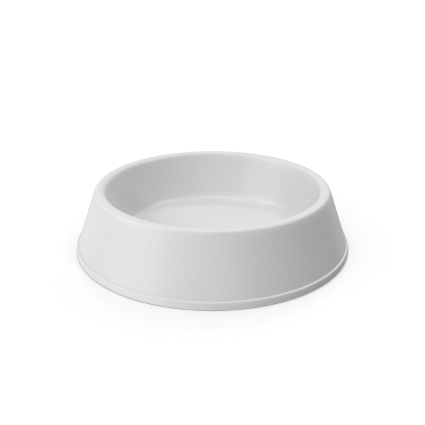 Pet Food Bowl White PNG & PSD Images