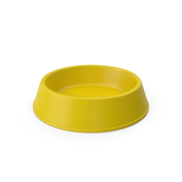 Pet Food Bowl Yellow PNG & PSD Images