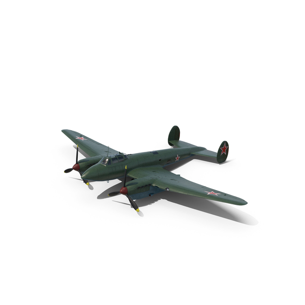 Petlyakov Pe 2 Closed Chassis PNG & PSD Images