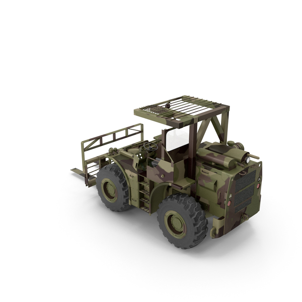 Pettibone Rough Terrain Camouflage Military Forklift PNG & PSD Images