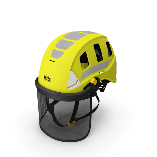 Petzl Strato Vent Hi-Viz Helmet with Mesh Shield PNG & PSD Images