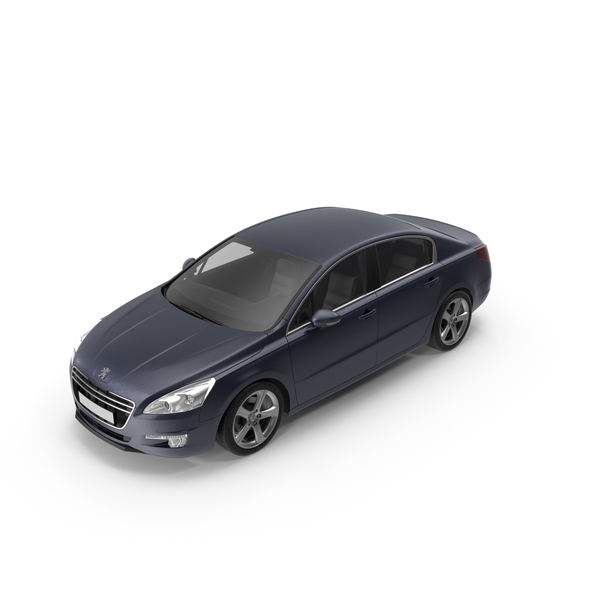 Car: Peugeot 508 2013 01 Dark Blue PNG & PSD Images