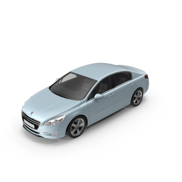 Car: Peugeot 508 2013 Blue Metallic PNG & PSD Images