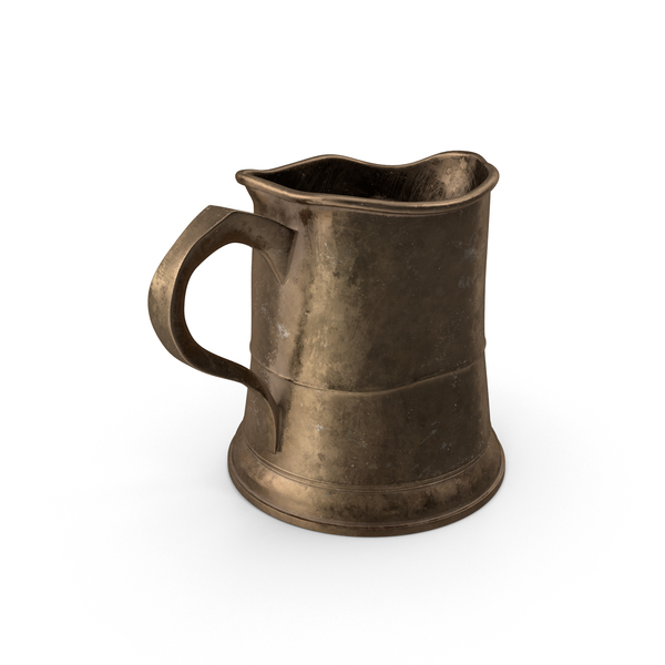 Beer Glass: Pewter Mug Object
