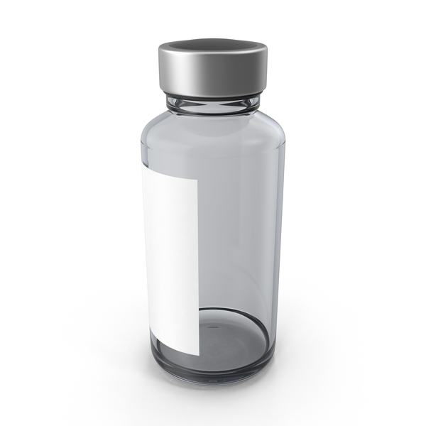 Pharmaceutical Bottle with Sticker PNG & PSD Images