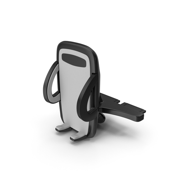 Cell Mount: Phone Holder for Car CD Slot PNG & PSD Images
