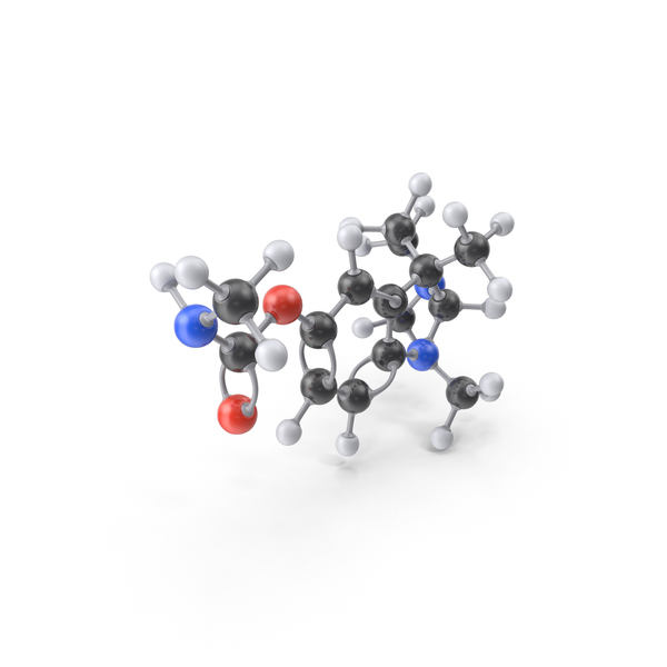 Physostigmine Molecule PNG & PSD Images