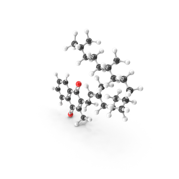 Phytomenadione (Vitamin K1) Molecular Model PNG & PSD Images
