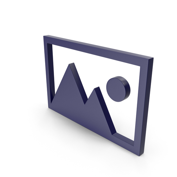 Logo: Picture Dark Blue Icon PNG & PSD Images