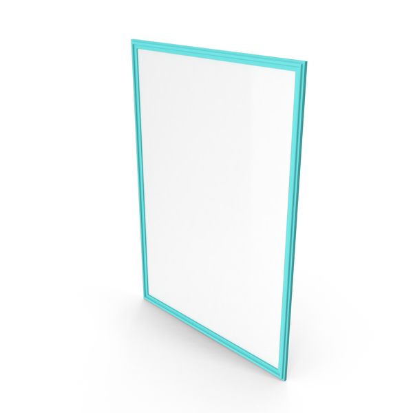 Picture Frame Teal Blue PNG & PSD Images