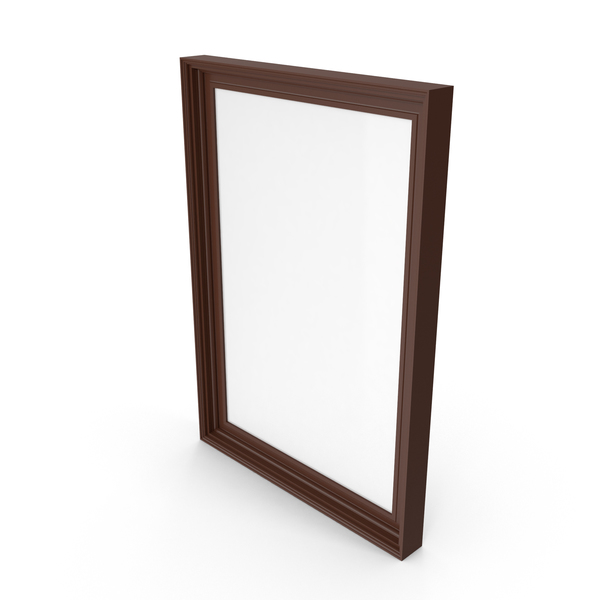 Picture Frame Wide Brown PNG & PSD Images