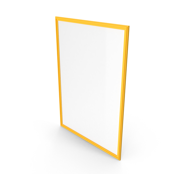 Picture Frame Yellow PNG & PSD Images