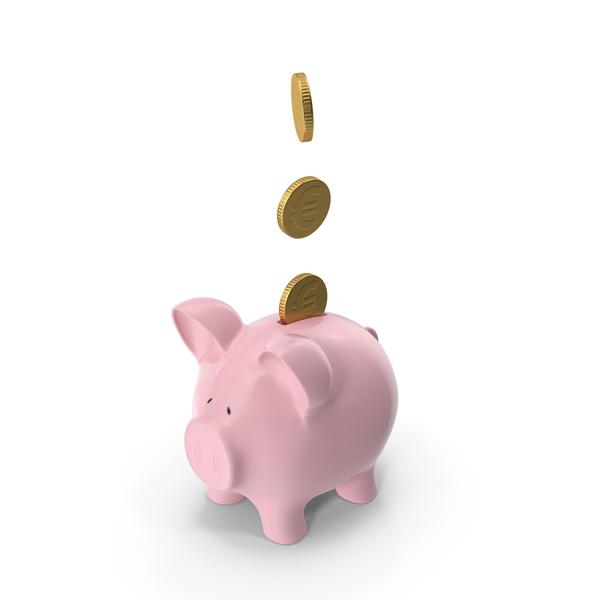 Piggy Bank Euro PNG & PSD Images