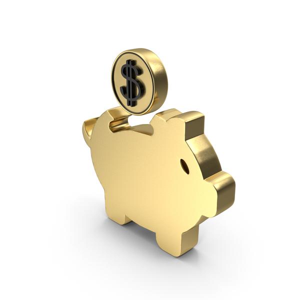 Piggy Bank Saving Symbol PNG & PSD Images