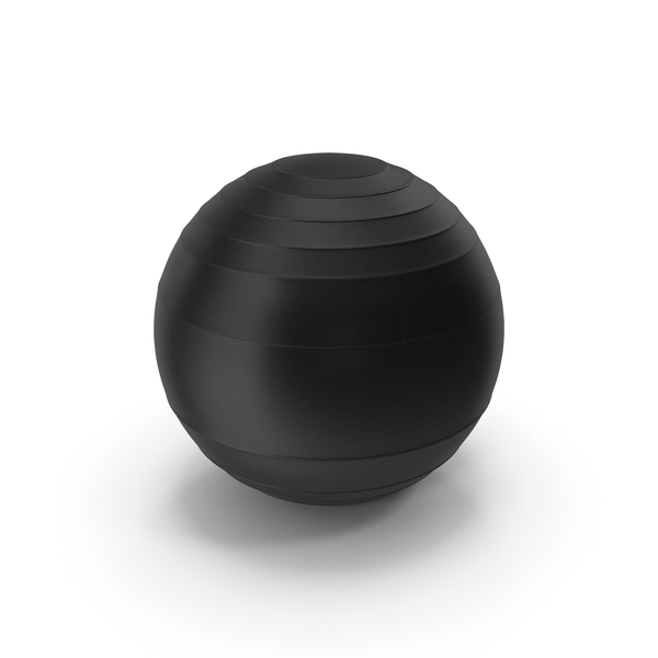 Pilates Ball Black PNG & PSD Images