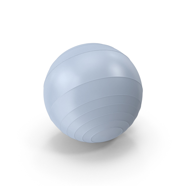 Blue Exercise: Pilates Ball PNG & PSD Images