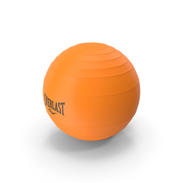 Pilates Ball Everlast Orange PNG & PSD Images