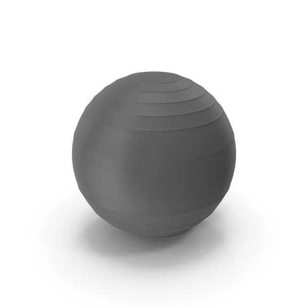Pilates Ball Grey PNG & PSD Images